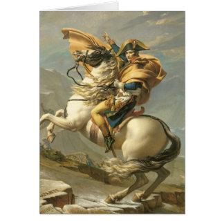 Napoleon que cruza las montañas en el St Bernard Tarjeta De Felicitación