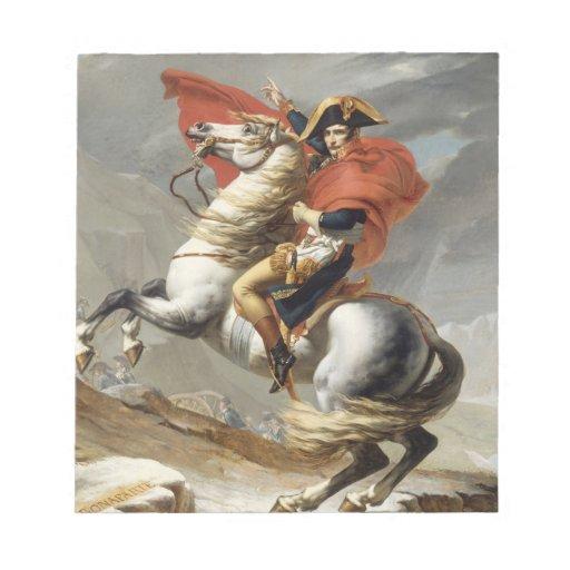 Napoleon que cruza las montañas - Jacques-Louis Da Bloc De Notas