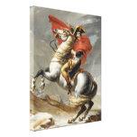 Napoleon que cruza las montañas - Jacques-Louis Da Impresiones En Lona Estiradas
