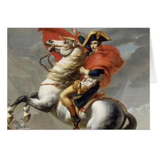 Napoleon que cruza las montañas - Jacques-Louis Da Tarjetón