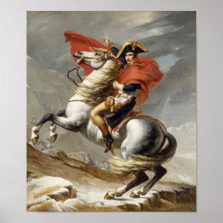 Napoleon que cruza las montañas -- Jacques-Louis Póster