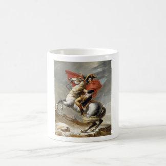 Napoleon que cruza las montañas -- Jacques-Louis Taza