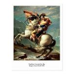 Napoleon que cruza las montañas postales