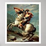 Napoleon que cruza las montañas póster