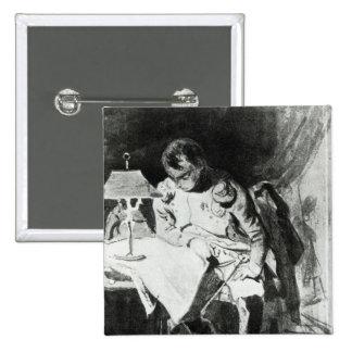 Napoleon que estudia sus mapas por la luz artifici pin