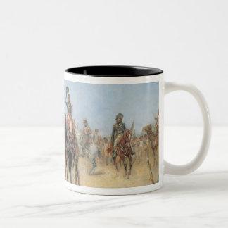 Napoleon que llega un oasis del egipcio (el aceite taza de dos tonos