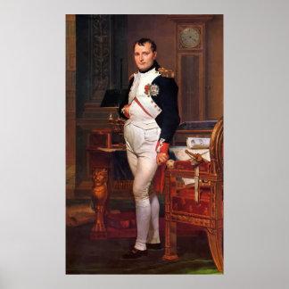 Napoleon que presenta en su estudio póster