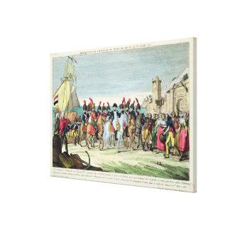 Napoleon que se va para el golf Juan, el 1 de marz Lona Envuelta Para Galerías