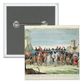 Napoleon que se va para el golf Juan, el 1 de marz Pin Cuadrada 5 Cm