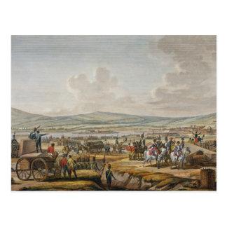 Napoleon que visita el cerco trabaja en Danzig Postal