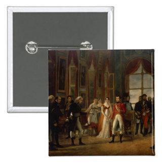 Napoleon receiving the senators 2 inch square button