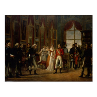 Napoleon receiving the senators postcard