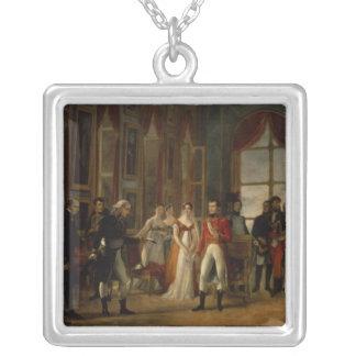 Napoleon receiving the senators square pendant necklace