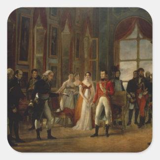 Napoleon receiving the senators stickers