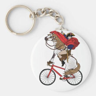 Napoleon Riding Horse Who's Riding A Bike Keychain