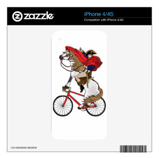 Napoleon Riding Horse Who's Riding A Bike Skin For iPhone 4S