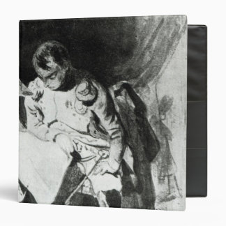 Napoleon studying his maps by lamplight, c.1800 binder