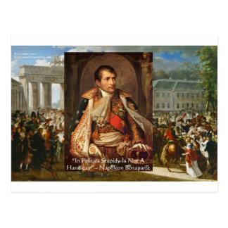 """Napoleon """"Stupidity Politics"""" Quote Gifts Tees Etc Postcard"""