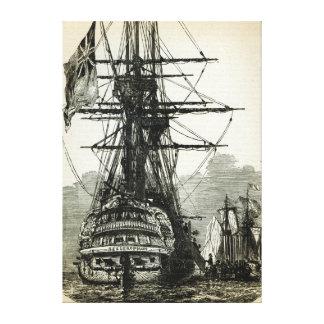 Napoleon surrendering to Captain Maitland Canvas Print
