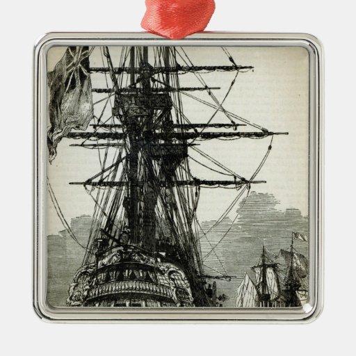 Napoleon surrendering to Captain Maitland Christmas Tree Ornaments