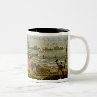 Napoleon Visiting the Camp at Boulogne Two-Tone Coffee Mug