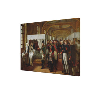 Napoleon visiting the Infirmary of Invalides Canvas Print