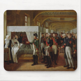 Napoleon visiting the Infirmary of Invalides Mouse Pad