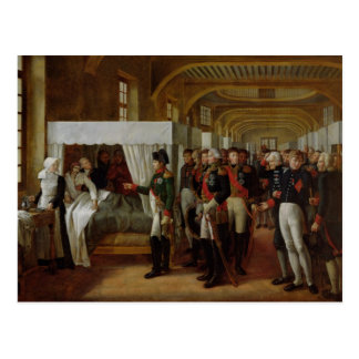 Napoleon visiting the Infirmary of Invalides Postcard