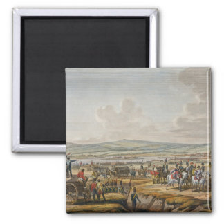 Napoleon Visiting the Siege Works at Danzig led by 2 Inch Square Magnet