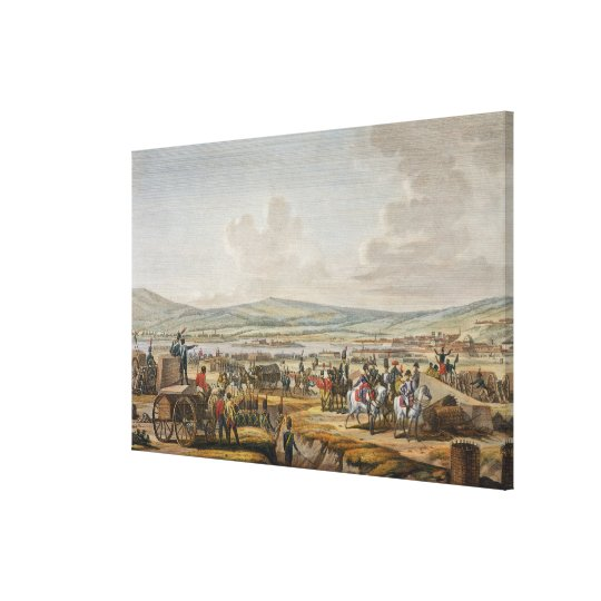 Napoleon Visiting the Siege Works at Danzig led by Canvas Print