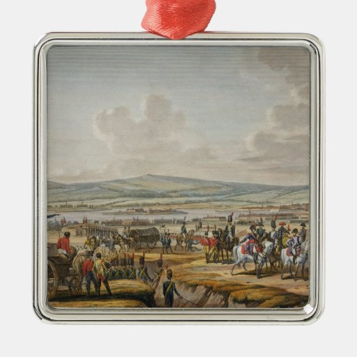 Napoleon Visiting the Siege Works at Danzig led by Ornament