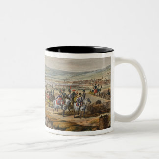 Napoleon Visiting the Siege Works at Danzig led by Two-Tone Coffee Mug