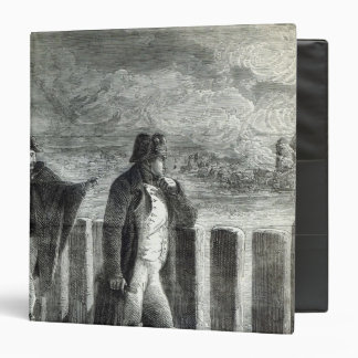 Napoleon watching the Fire of Moscow in 1812 3 Ring Binder
