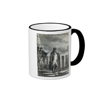 Napoleon watching the Fire of Moscow in 1812 Ringer Mug