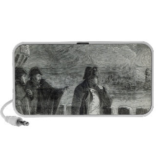 Napoleon watching the Fire of Moscow in 1812 Portable Speakers
