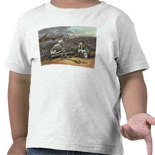 Napoleon y esqueleto, décimo octavo camisetas