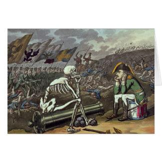 Napoleon y esqueleto, décimo octavo tarjeta