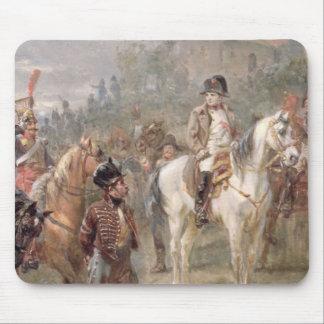 Napoleon y sus tropas (aceite en el panel) (par de alfombrillas de ratones