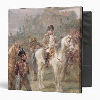 Napoleon y sus tropas (aceite en el panel) (par de