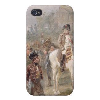 Napoleon y sus tropas (aceite en el panel) (par de iPhone 4 carcasas