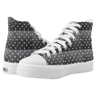 Napoleonic Lace-ups Small Black Bees High-Top Sneakers