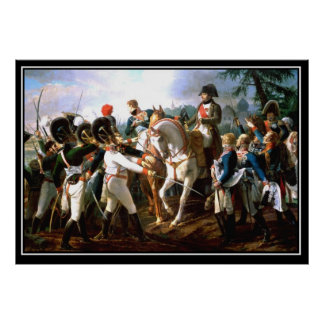 Napoleon's Battle of Abensberg 1809 Poster