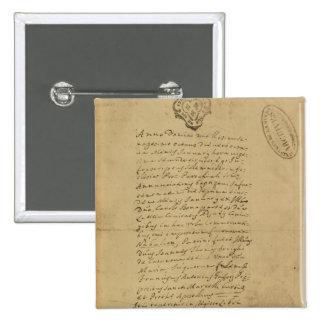 Napoleon's Birth Certificate, 1769 Button