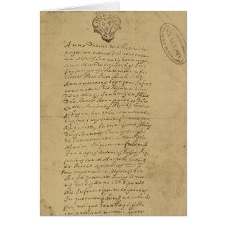 Napoleon's Birth Certificate, 1769 Card