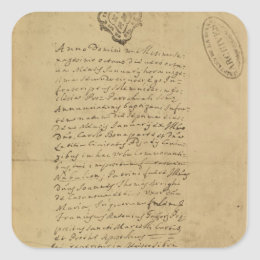 Napoleon's Birth Certificate, 1769 Square Sticker