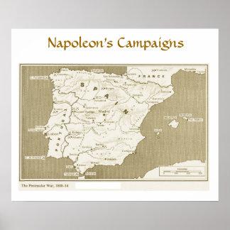 Napoleon's Campaigns, Peninsular War 1808-1814 Poster