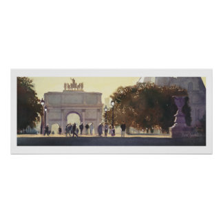 """Napoleon's Carousel"" Paris Watercolor Poster"