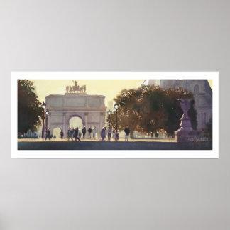 """Napoleon's Carousel"" Paris Watercolor Print"