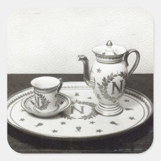 Napoleon's Coffee Set Square Sticker