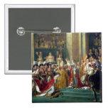 Napoleon's Consecration and Josephine's 2 Inch Square Button